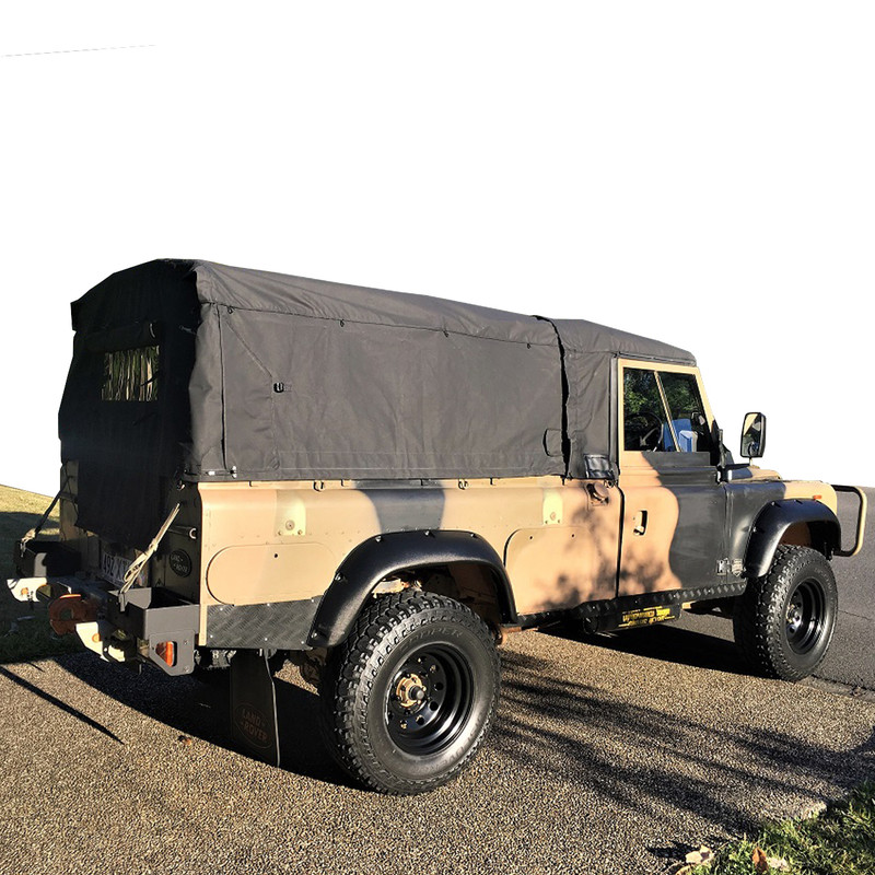 Land Rover 110 Perentie Ex-Military vehicle canvas canopy - SEPARABLE CANOPY - Black
