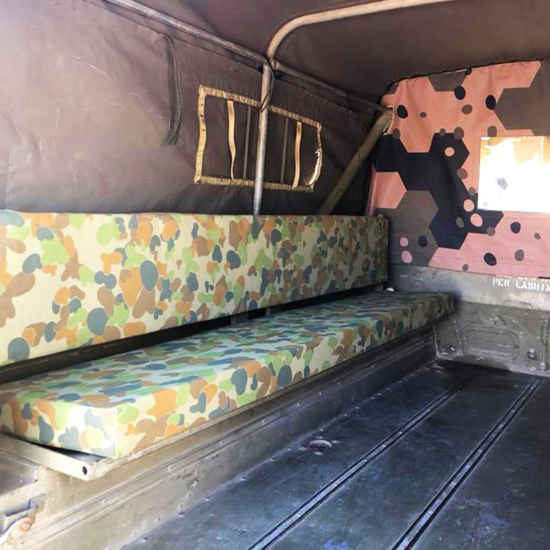 Land Rover 110 Perentie Rear Bench Seat Covers (Single Bench)
