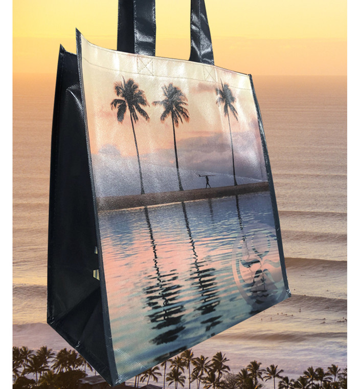 HIC Sunset Palm Laminated Tote