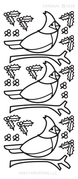 Cardinal Outline Sticker