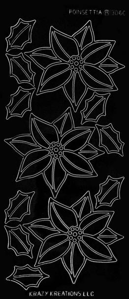 Poinsettia Outline Sticker