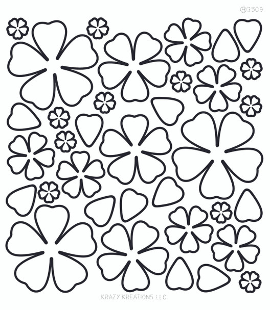 Layered Flowers 3 Outline Sticker