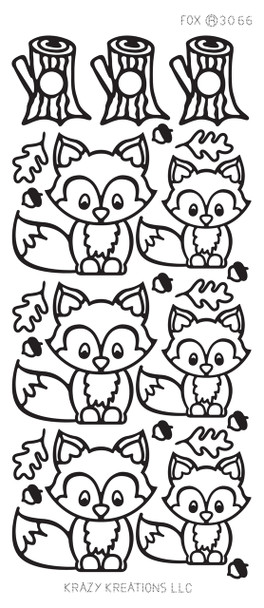 Fox Outline Sticker