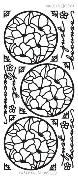 Violets Outline Sticker