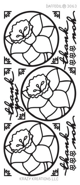 Daffodils Outline Sticker