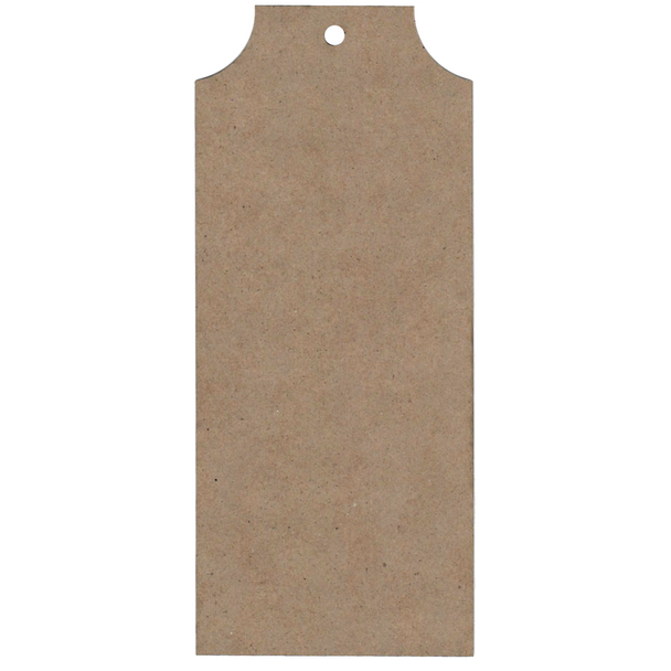 Large Chipboard Tags, Concave, 3pc