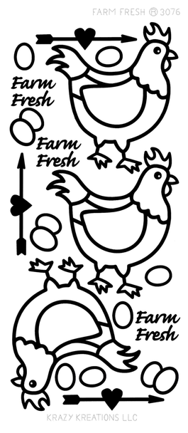 Farm Fresh Outline Sticker