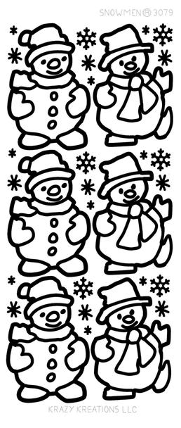 Snowmen Outline Sticker