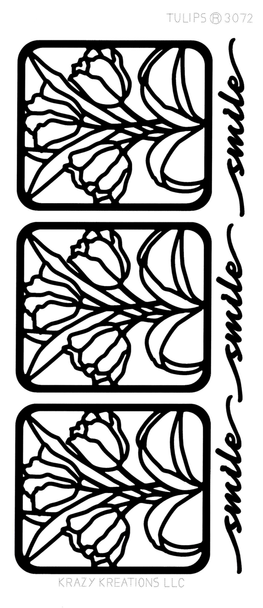 Tulips Outline Sticker