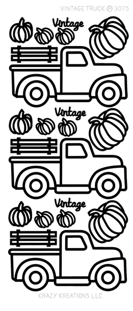 Vintage Truck Outline Sticker