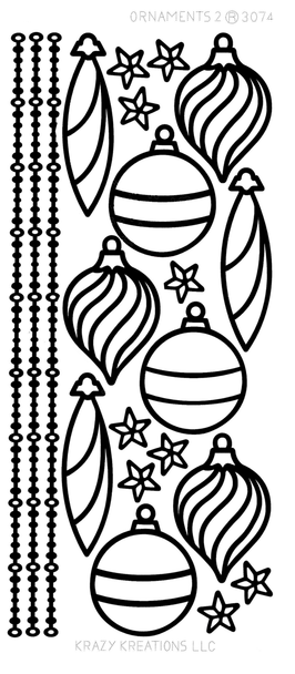 Ornaments (2) Outline Sticker