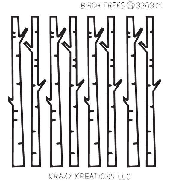 Birch Trees Outline Sticker - Mini
