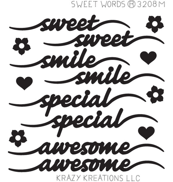 Sweet Words Sticker - Mini