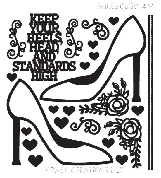Shoes Outline Sticker - Mini