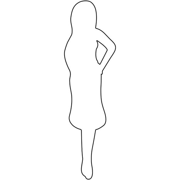 Paper Doll Chipboard Shape, Island Girl