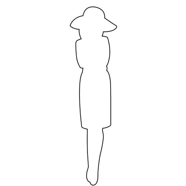 Paper Doll Chipboard Shape, Travel Girl
