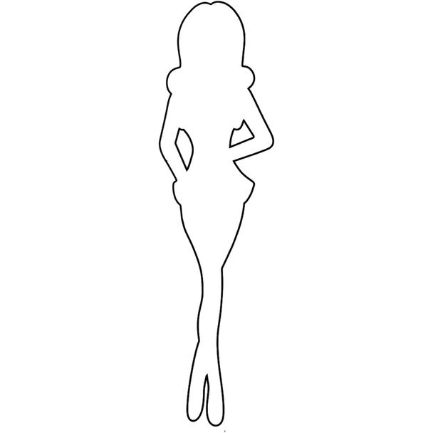 Paper Doll Chipboard Shape, Swim Girl
