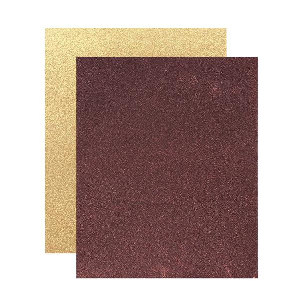 "Micro Fine Glitter Paper, Bronze/Sahara,  5"" x 6"", 2 Sheets"