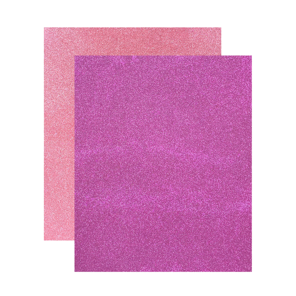"Micro Fine Glitter Paper, Pink/Rose,  5"" x 6"", 2 Sheets"