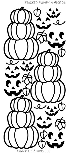 Stacked Pumpkins Outline Sticker
