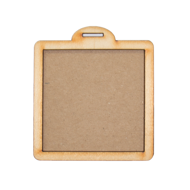 Square Tag Wood Frames, 2 Sets