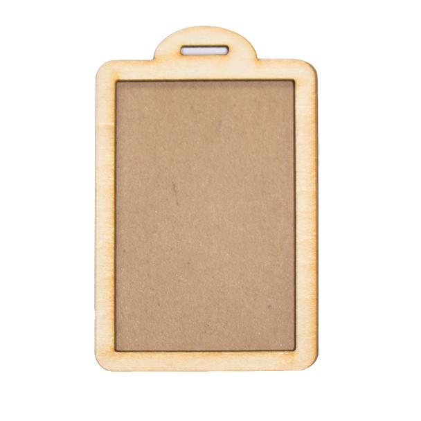 Rectangle Tag Wood Frames, 2 Sets
