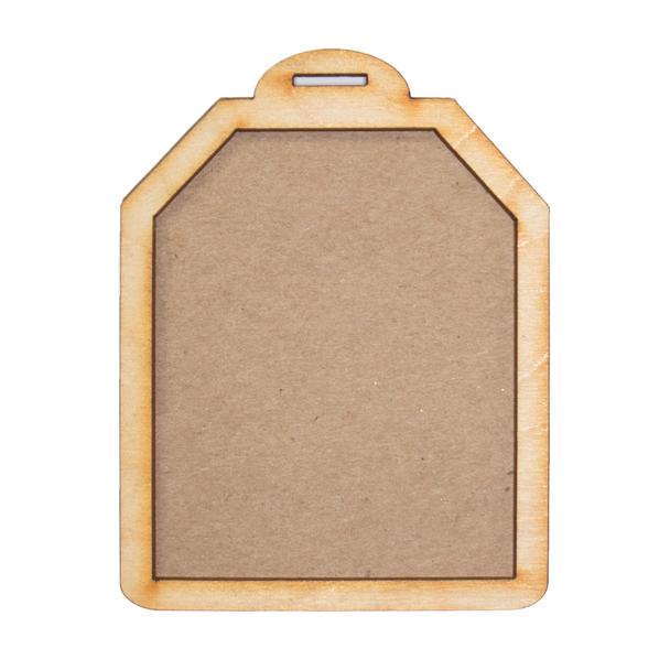 Gift Tag Wood Frames, 2 Sets