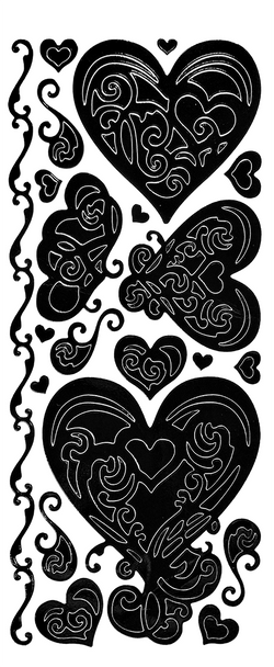 Hearts Outline Sticker