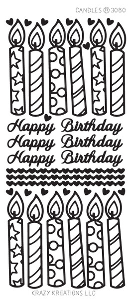 Candles Outline Sticker