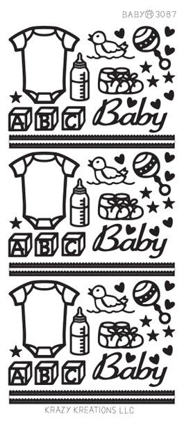 Baby Outline Sticker