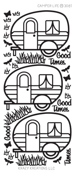 Camper Life Outline Sticker