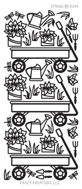 Spring Outline Sticker