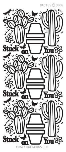 Cactus Outline Sticker