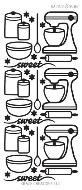 Baking Outline Sticker