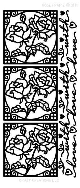 Rose Frame Outline Sticker
