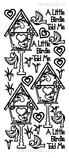 Birdhouse Outline Sticker