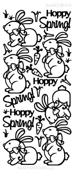 Bunnies Outline Sticker