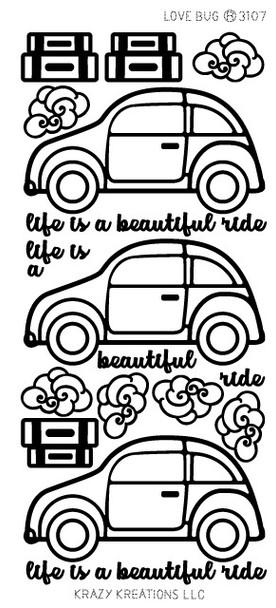 Love Bug Outline Sticker