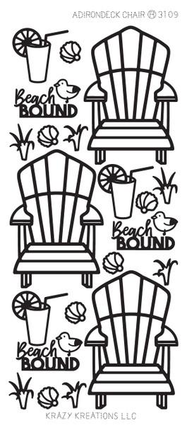 Adirondack Chair Outline Sticker