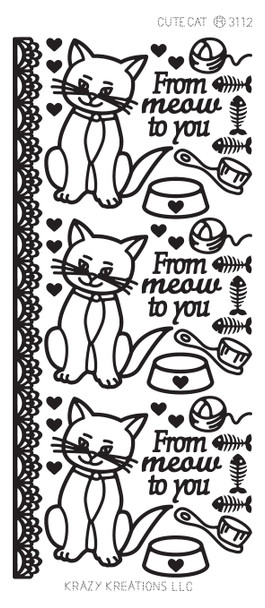 Cute Cat Outline Sticker
