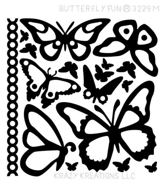 Butterfly Fun Outline Sticker - Mini