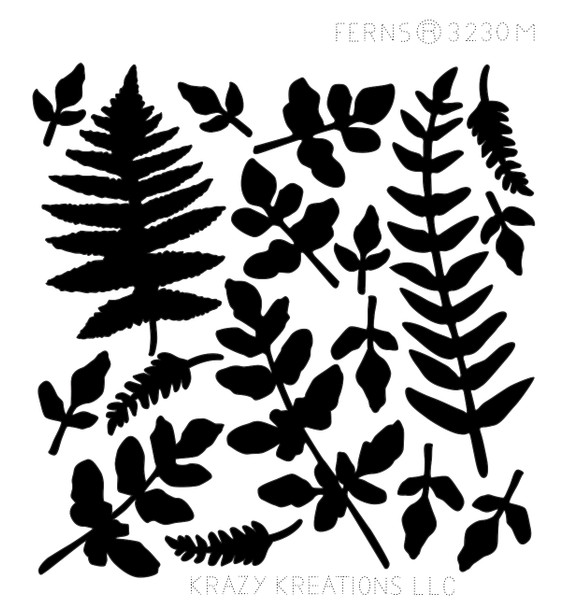 Ferns Outline Sticker - Mini
