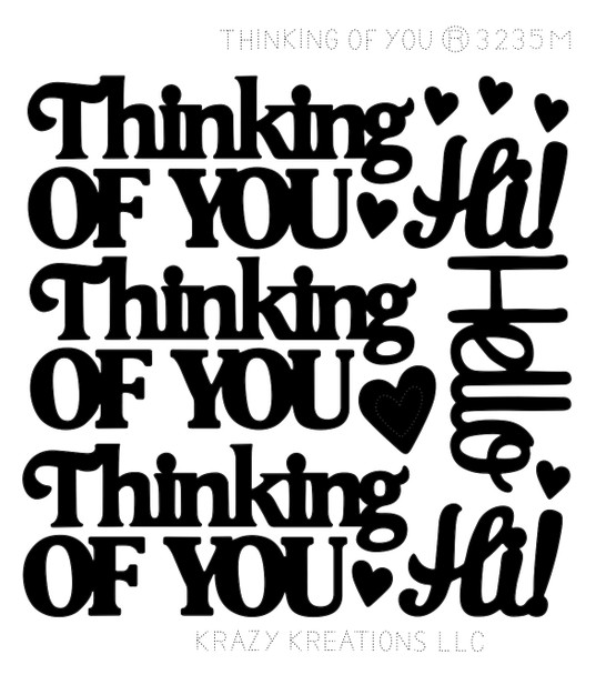 Thinking of You Outline Sticker - Mini