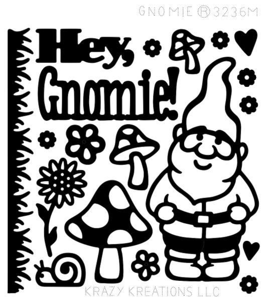 Gnomie Outline Sticker - Mini