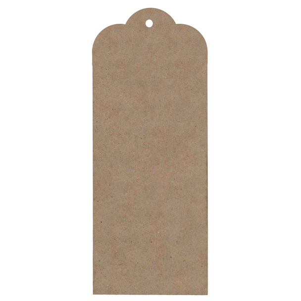 Large Chipboard Tags, Scallop, 3pc