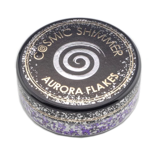 Cosmic Shimmer Aurora Flakes, Frosted Violet
