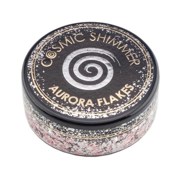 Cosmic Shimmer Aurora Flakes, Icy Pink