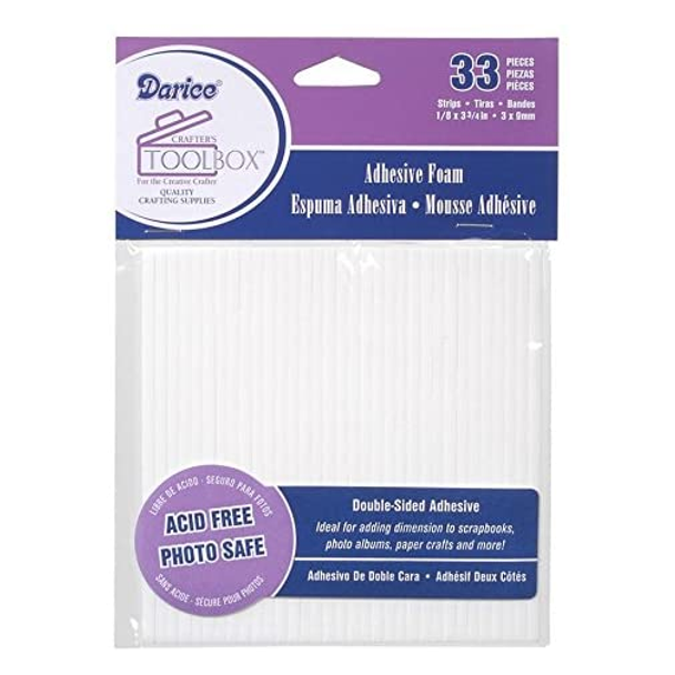 Darice Double-Sided Adhesive Foam Strips, 33pc