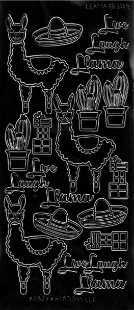 Llama Outline Sticker