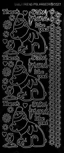 Polar Bear Outline Sticker